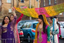 Asian wedding in Bradford,bride arrives
